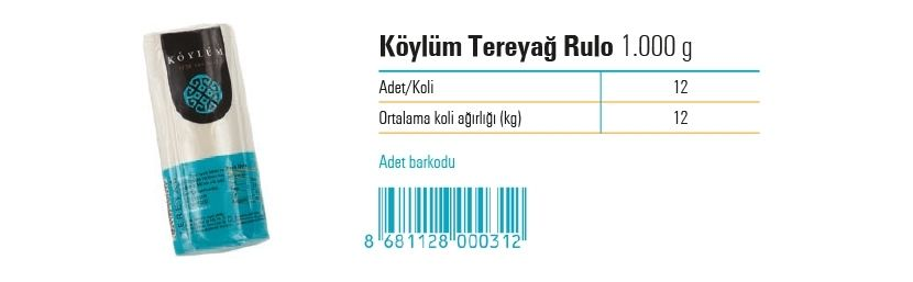 Koylum Roll Butter  1.000 g