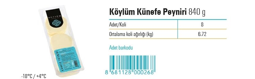 Koylum Kunefe Cheese 840 g